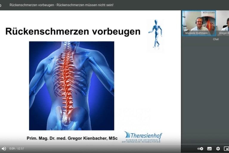 Webinar zu Rückenschmerzen